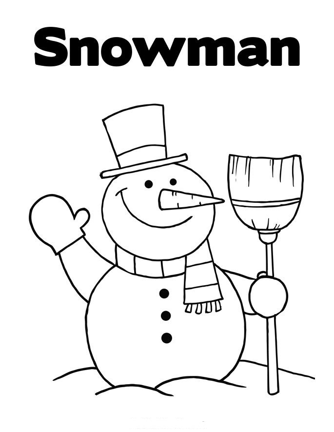 Snowman coloring child coloring for Snowman printable coloring pages