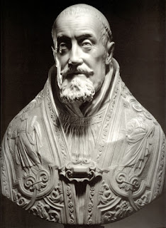 Gian Lorenzo Bernini's marble bust of Gregory XV, which he sculpted in 1621