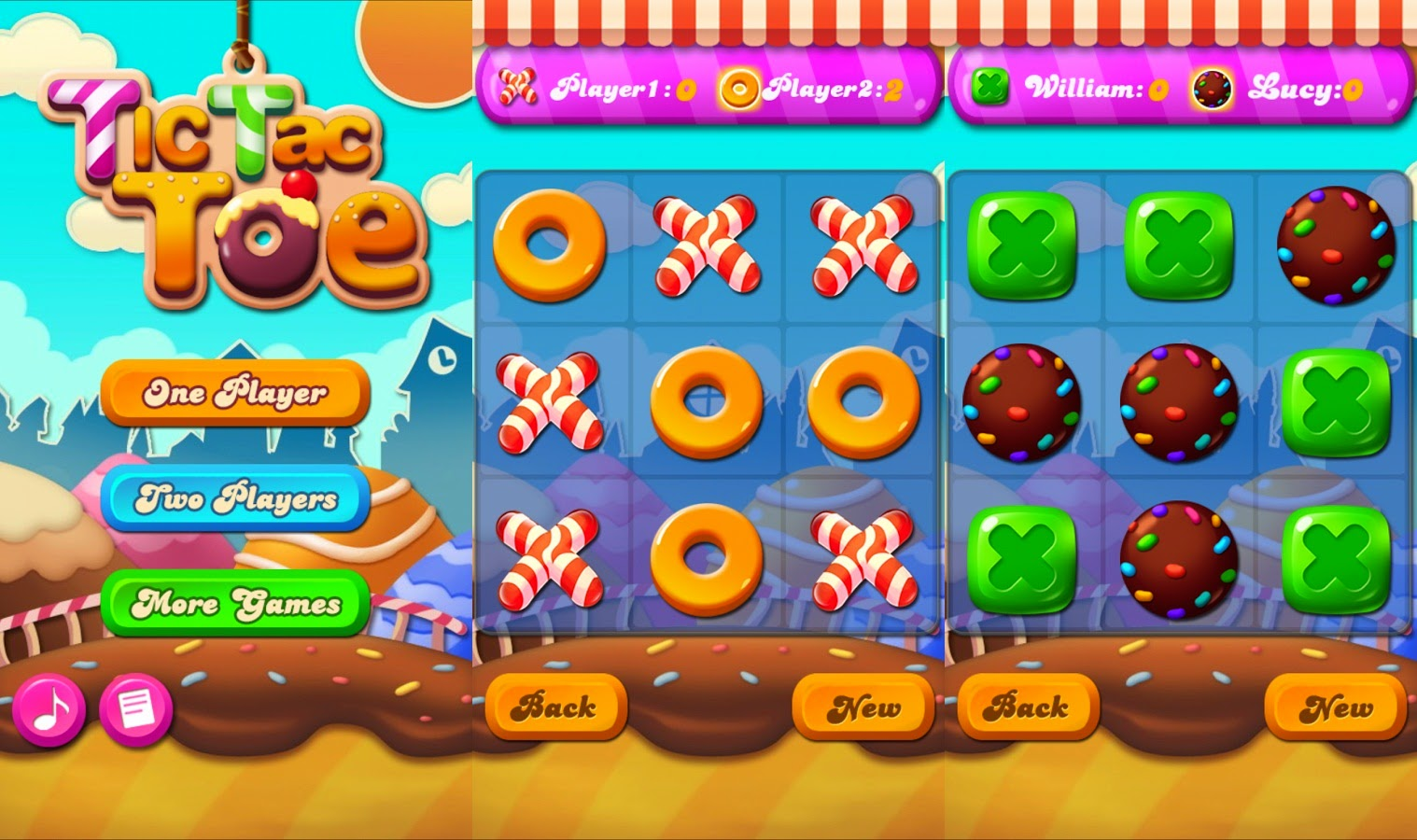 Candy Tic Tac Toe | Download APK For Free (Android Apps)