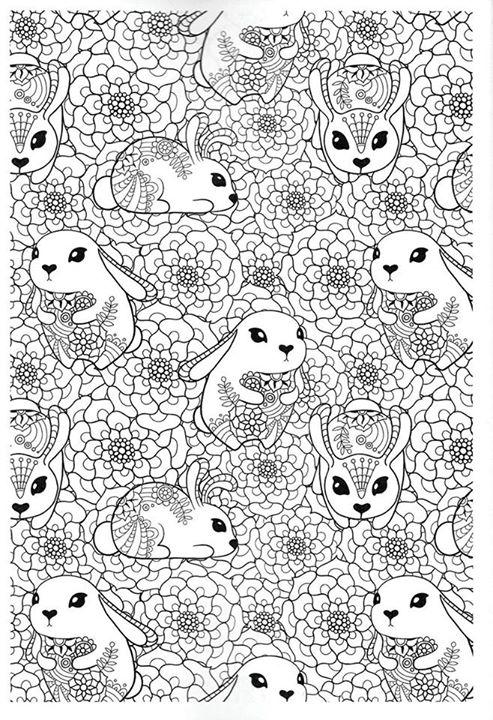 het vrolijke konijnenhol kleuren voor volwassenen