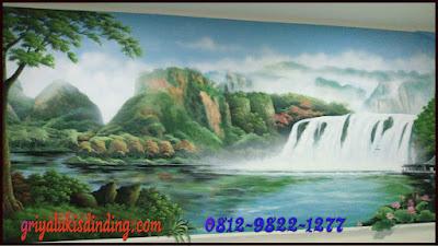 mural lukisan dinding 3d gambar pemandangan