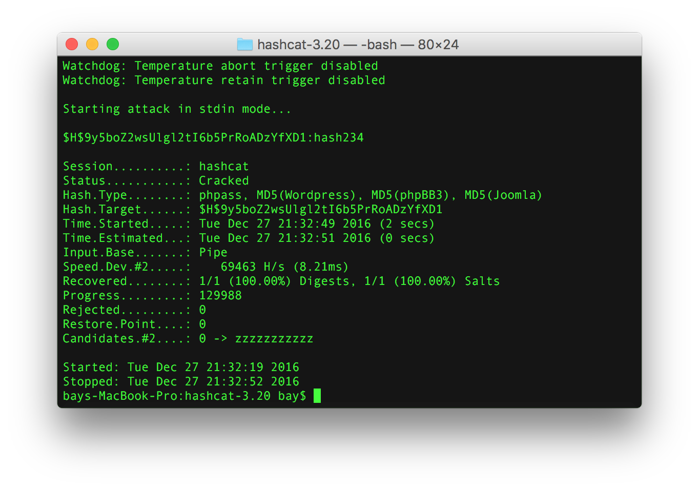 How to install hashcat on macOS (OSX)