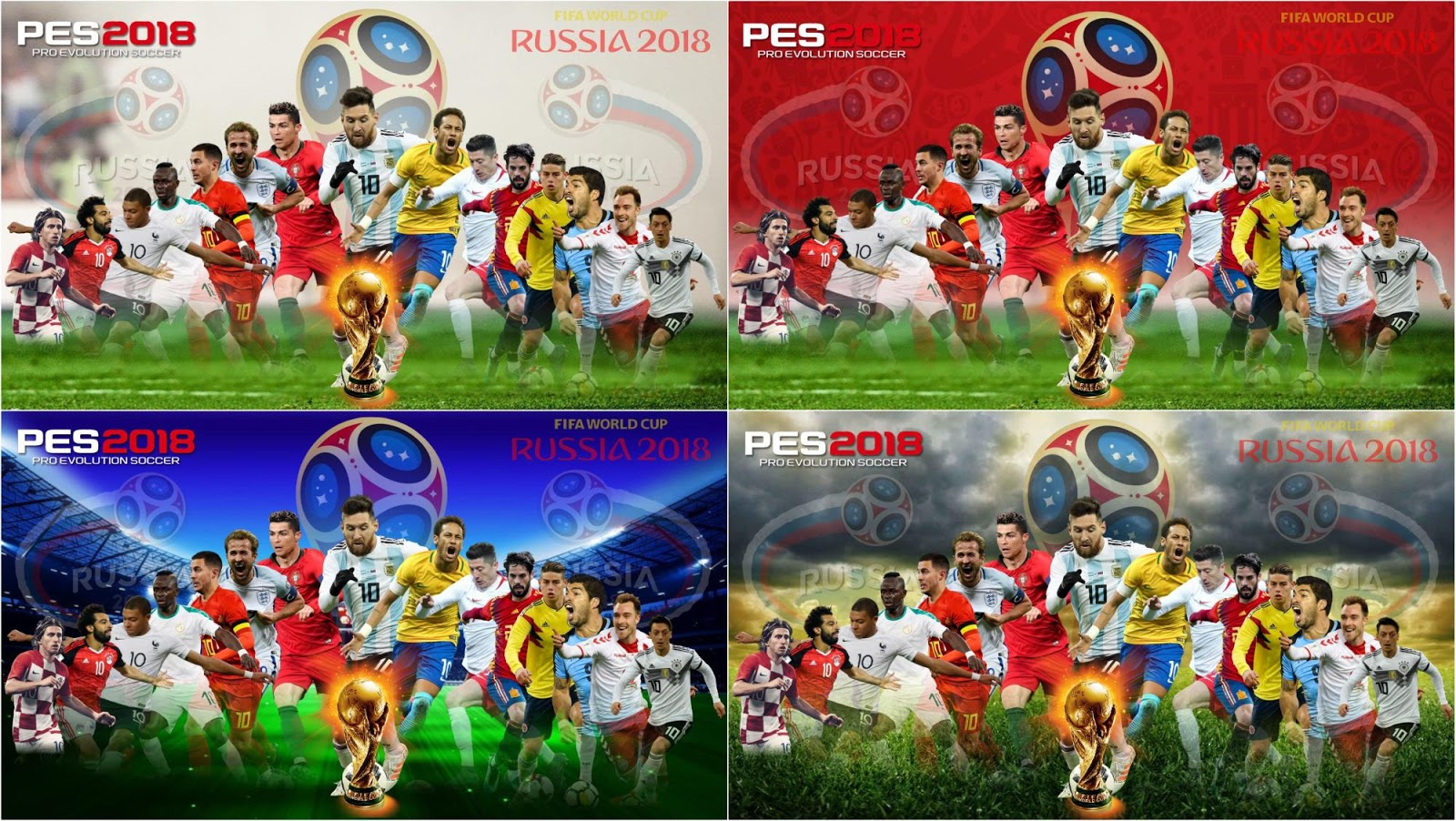 PES 2018 World Cup Start Screens by TRUSTINGOD
