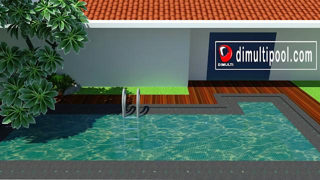 Kolam renang Minimalis Jakarta Selatan_Tampak Samping 2