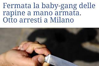 """تفكيك عصابة  قاصرين """"مغربيين، مصري، وإيطاليين،"""" نواحي ميلانو، بعد 21 عملية سطو مسلح"""