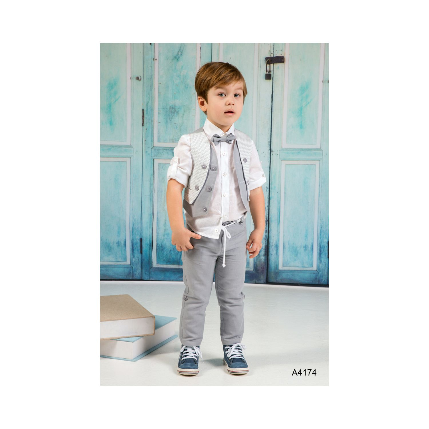 Summer baptismal clothes for boys A4174