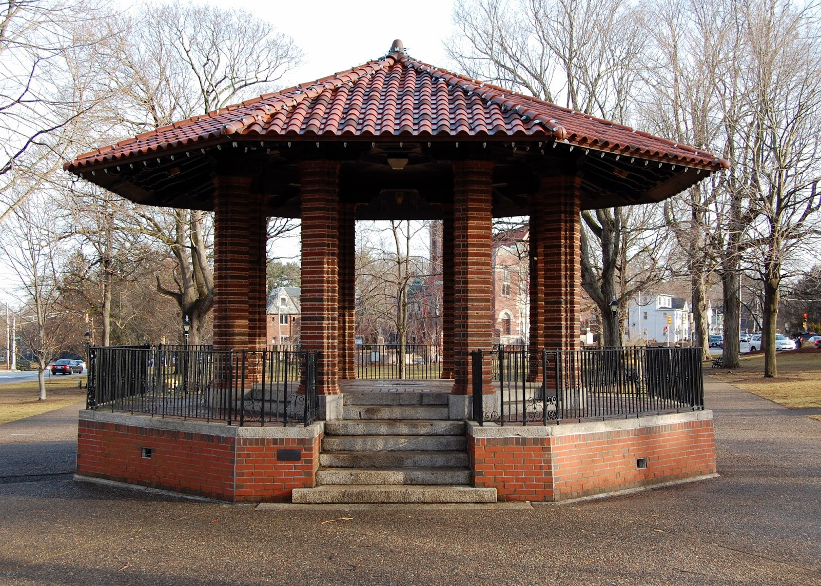 bandstand on Franklin Town Common