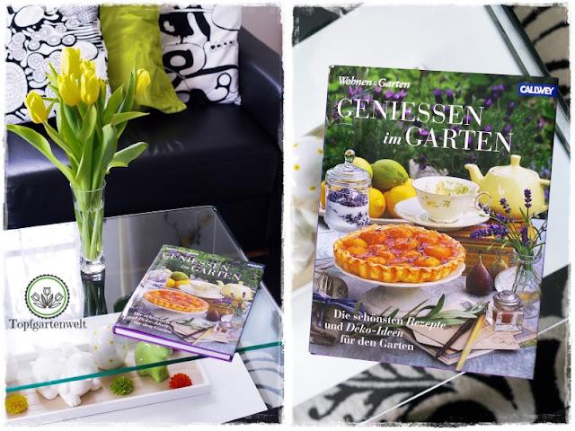 Gartenblog Topfgartenwelt Gartenbuch Rezension: Genießen im Garten am Wohnzimmertisch