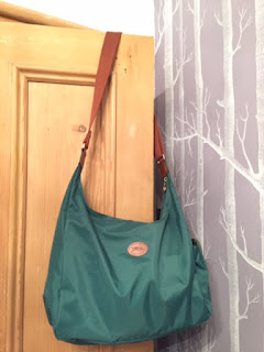 Longchamp Hobo in teal