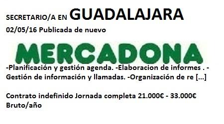 Lanzadera de Empleo Virtual Guadalajara, Oferta Mercadona