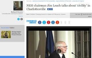 NEH chairman Jim Leach Charlottesville humanities civility