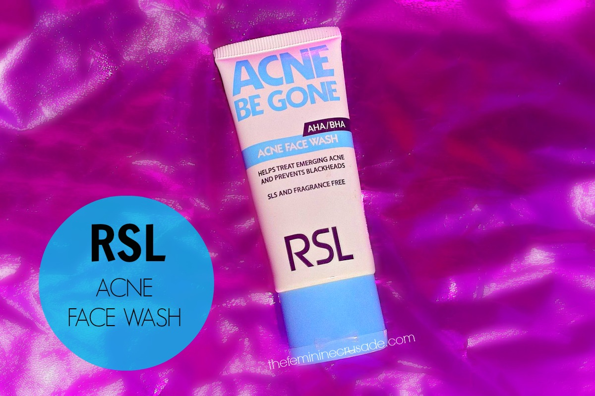 RSL Acne Be Gone Acne Face Wash
