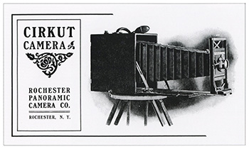Brochure publicitaire de l'appareil panoramique Cirkut camera
