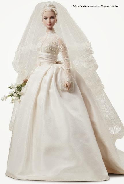 Vestidos de noiva para Barbie - Bridal dresses for barbie dolls - Para inspirar nossas criações 5