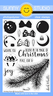 Sunny Studio Stamps: Introducing Holiday Style 4x6 Stamp Set