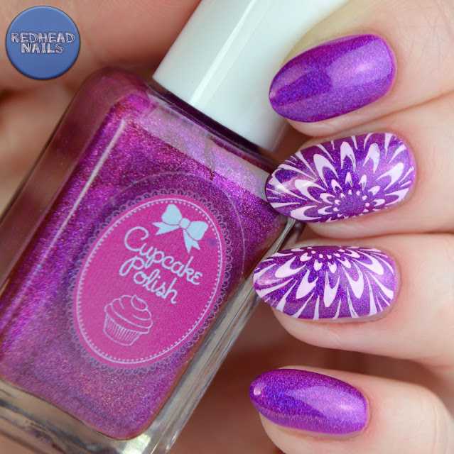 swatch Cupcake Polish Berry good looking