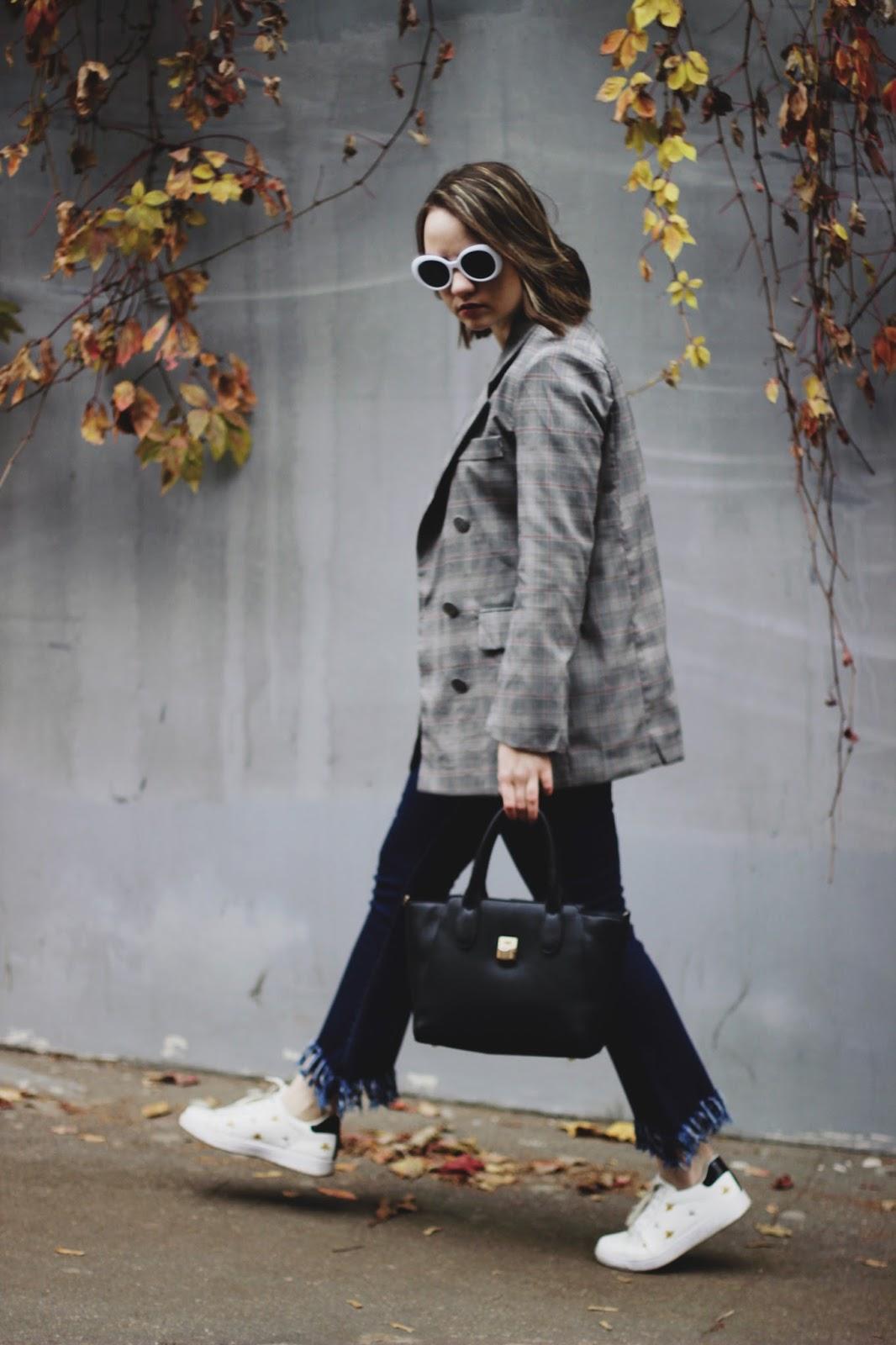 Checked Blazer Look | Fashion Blogger
