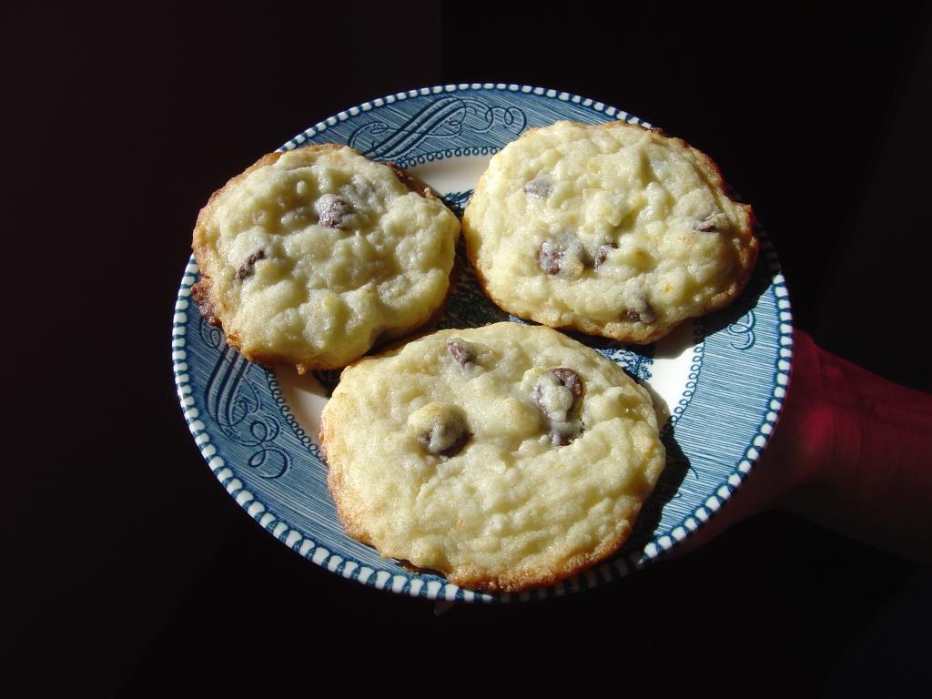 A Plate of Coconut Orange Drop Cookies Image