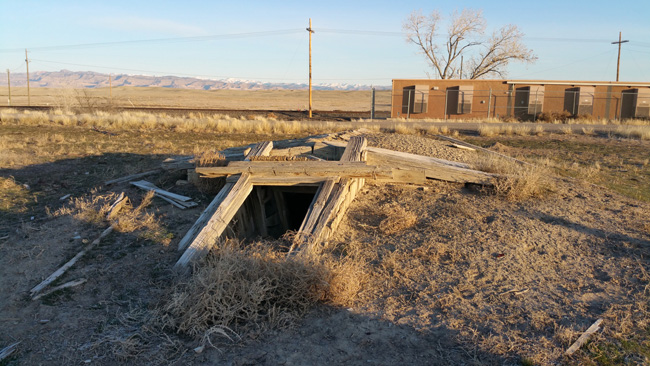 Abandoned Cellar in Cisco Utah ghost town