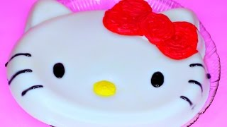 How to Make 'Hello Kitty Pudding' Recipe Cooking Toys