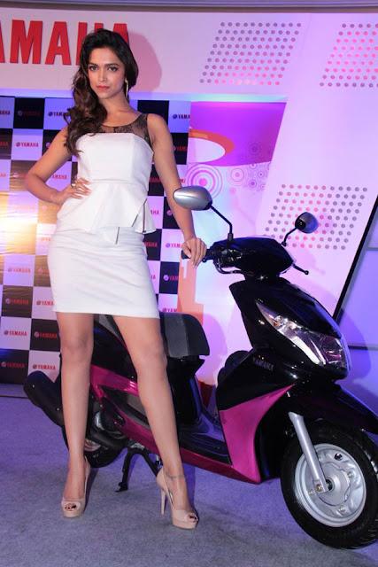 Deepika Padukone White Dress At Bike Launch