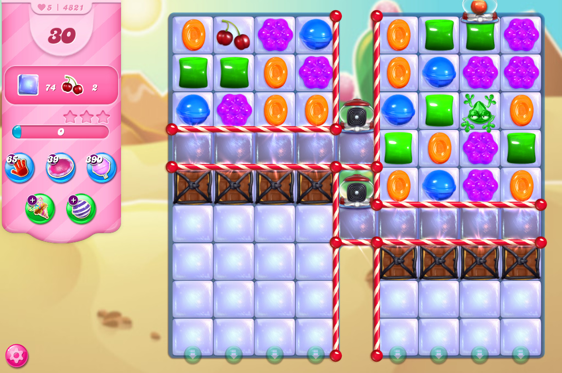 Candy Crush Saga level 4821