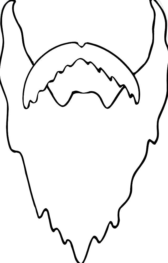 Dibujos Para Colorear De Bigotes Y Barbas