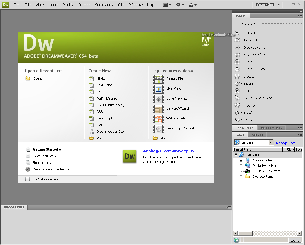 Dreamweaver Cs4 manual Free Download