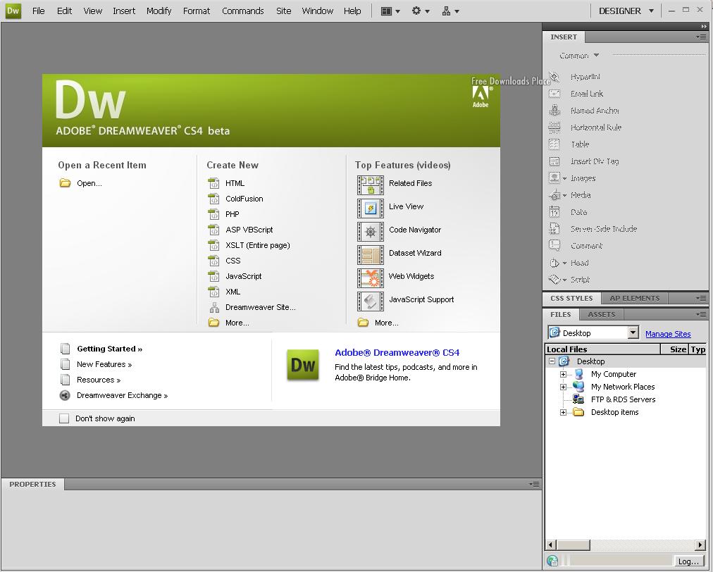 Программа для создания сайтов adobe dreamweaver косгу расходы по созданию сайта