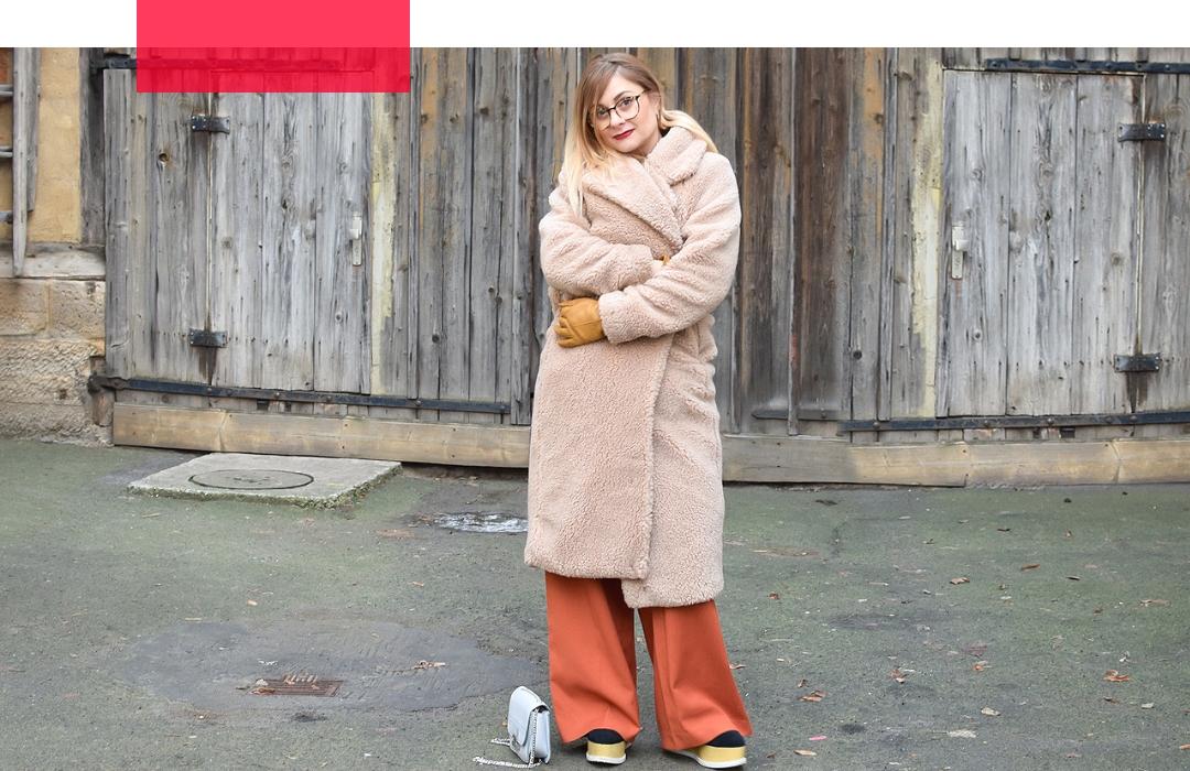 Teddyfell Mantel von H&M / Was passt zu einem Teddyfell Mantel?