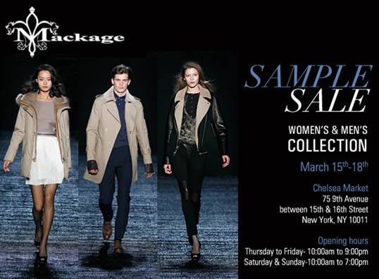 d3d1b9275220 Madison Avenue Spy  Mackage Sample Sale