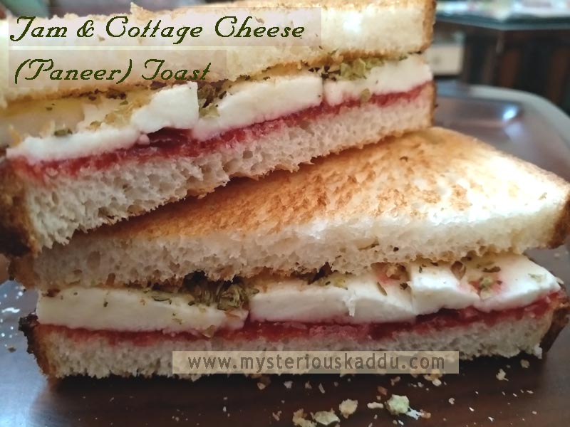 Must-Try Quirky Weird Food Combinations That Taste Amazingly Delicious: Jam & Cottage Cheese Toast