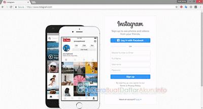 daftar akun instagram lewat google