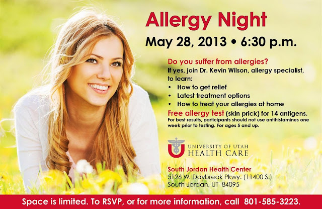 Allergy Night with University of Utah Health Care
