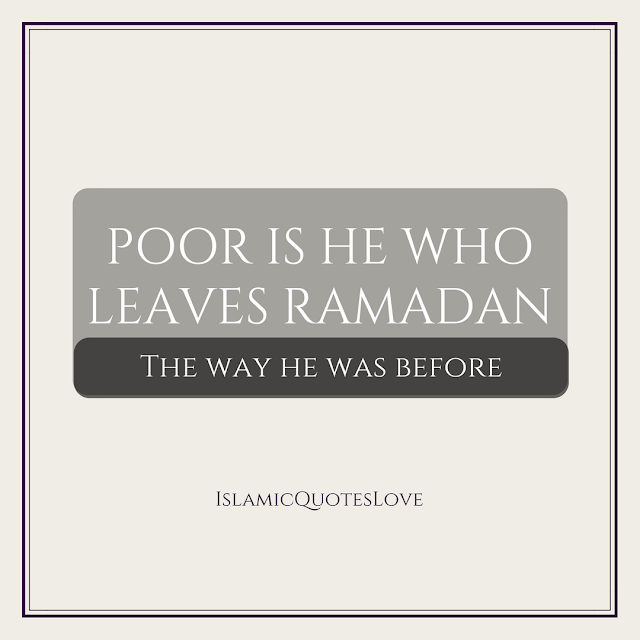 Make a plan for this Ramadan. Be prepared. Make changes. Challenge yourself