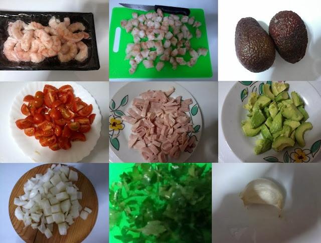 Receita de camarão com abacate