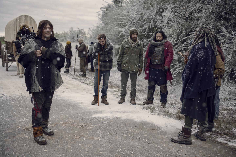Daryl, Alden, Aaron, Jerry y Ezekiel, en el episodio 9x16 The Storm de The Walking Dead