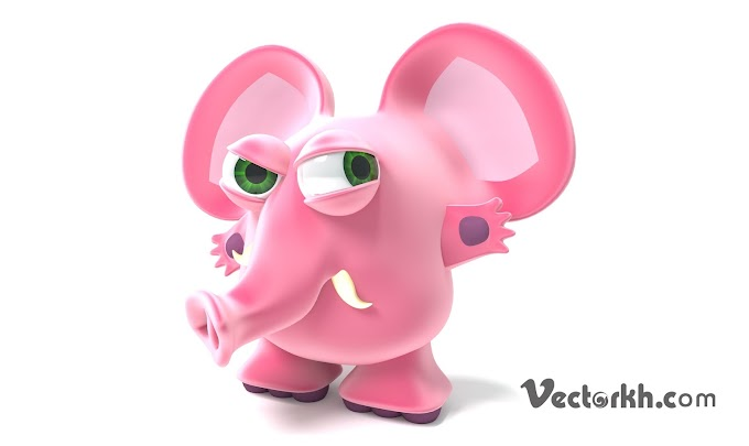 Cute Elephant Vector 3D for free download