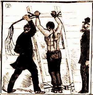 Flogging, Darlinghurst Gaol, NSW, 1880s.