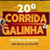 20ª Corrida da Galinha que acontece de 2 a 6 de agosto de São Bento do Una, PE