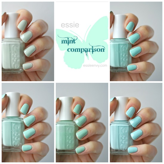 essie mint comparison new mint candy apple old mint candy apple