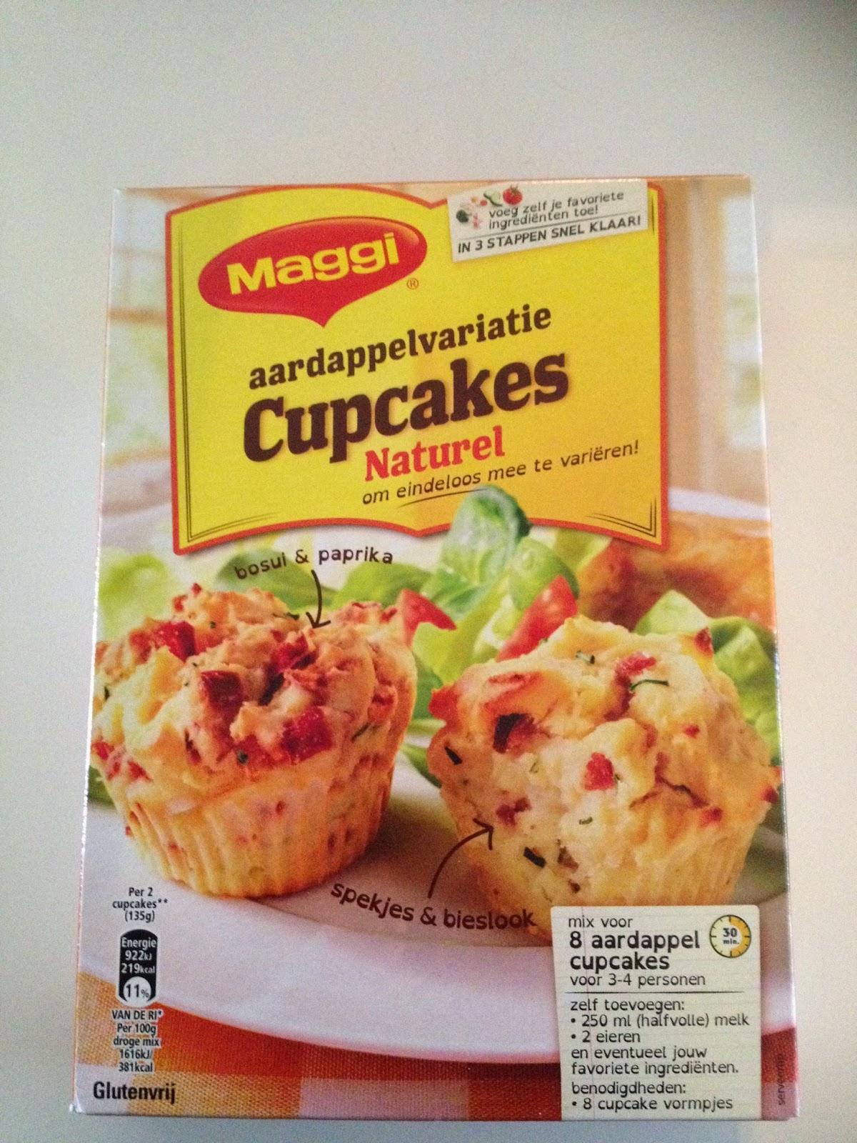 Maggi aardappelvariatie cupcakes