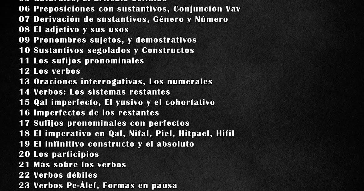 CURSO DE HEBREO AVANZADO POR PROFESOR MARIO PORRAS PDF