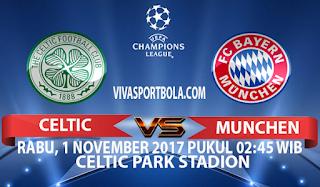 Prediksi Celtic vs Bayern Munchen 1 November 2017
