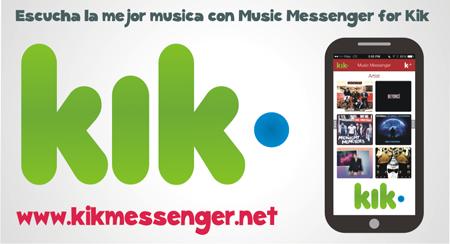 Escucha la mejor musica con Music Messenger for Kik
