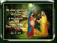 Resultado de imagen para Proclama mi alma la grandeza del Señor,  se alegra mi espíritu en Dios, mi salvador;
