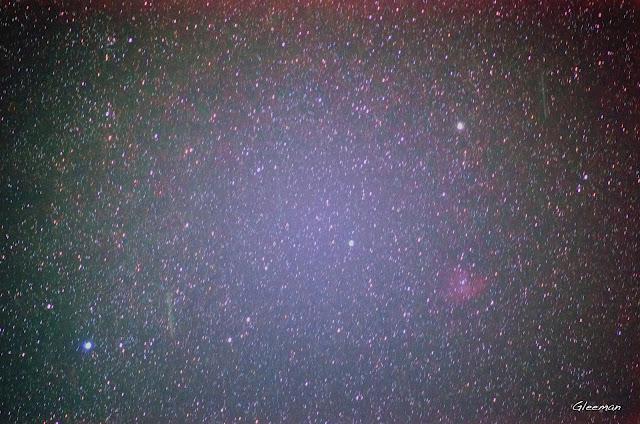 Pacman nebula 小精靈星雲/ Pentax k5 + O-GPS1 @ DA*200 F2.8 LPS-P2 濾鏡