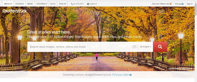 Shutterstock adalah situs jualan desain atau foto yang terbukti membayar