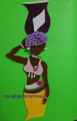keçe afrikalı kadın
