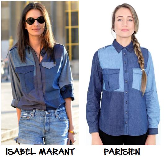 clones 2016 - camisa patchwork isabel marant parisien